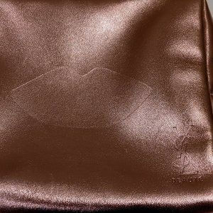 YSL Yves Saint Laurent Rose Gold Makeup Pouch